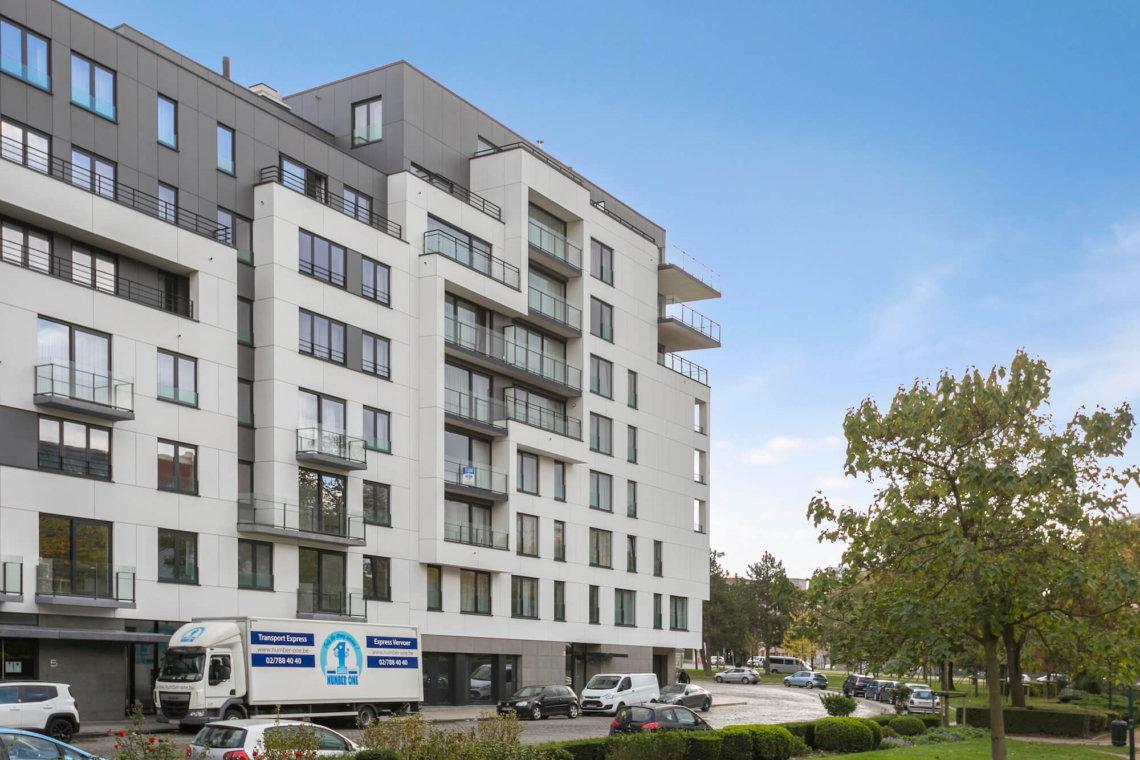 b-square studio apartment exterior building facade