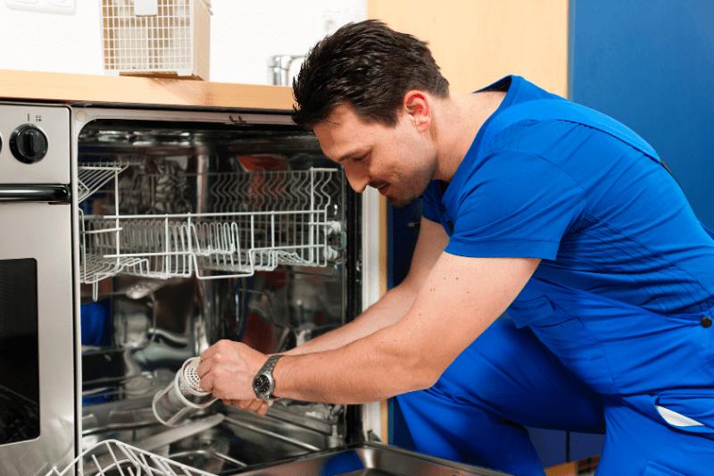bbf technician fixing a dishwasher