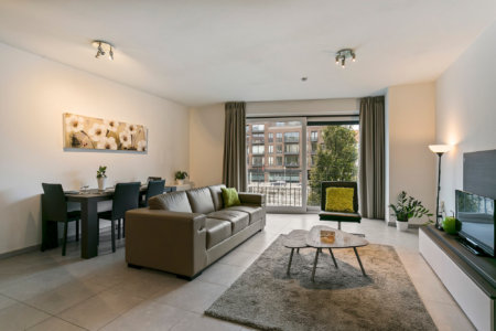open living space of waterview serviced apartment in brussels city