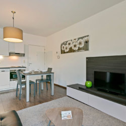 serviced apartment with cable television on brussels canal in the city