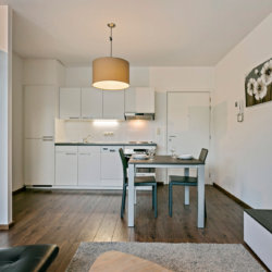spacious studio with fully equipped kitchen on brussels canal in city