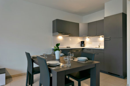 furnished bbf apartment in brussels with fully equipped kitchen