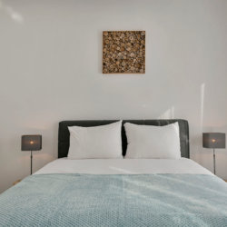 b-square two bedroom apartment master bed