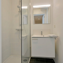 b-square two bedroom apartment bathroom with shower