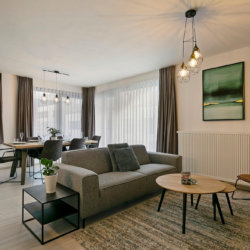 b-square two bedroom apartment with modern living space and fixtures