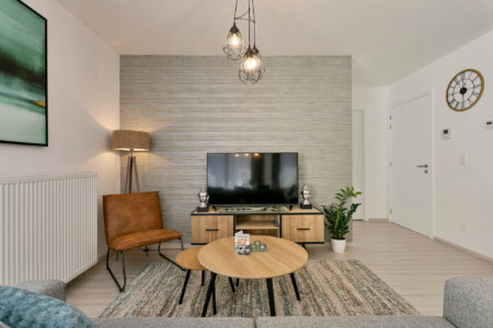 b-square two bedroom apartment with modern furnishings and cable tv