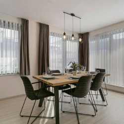 b-square two bedroom apartment with spacious dining table