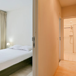 double bed in serviced apartment near botanique brussels
