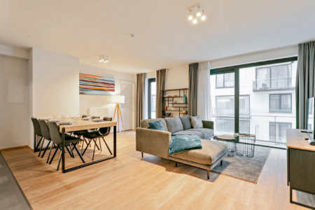 winxx two bedroom apartment dining and living space