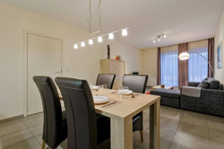 modern dining table seating four people in one bedroom furnished bbf apartment