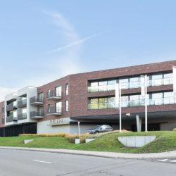 zilverhof one bedroom apartment exterior building facade