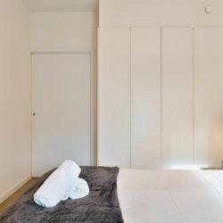 zilverhof one bedroom apartment master double bed with built in wardrobe