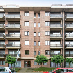 dunant gardens one bedroom apartment external building facade