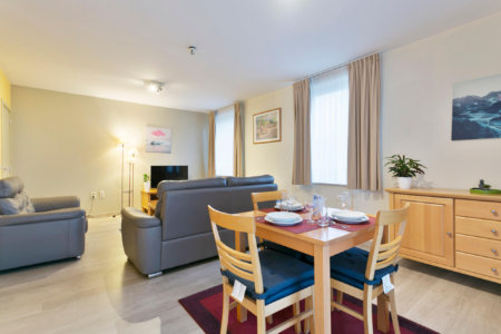 green gardens two bedroom apartment dining and living rooms