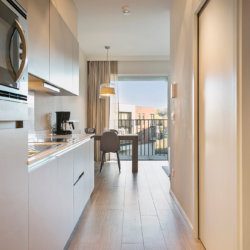 fully equipped kitchen in bbf serviced apartment near brussels international airport