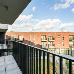balcony view over garden in bbf zilverhof residence