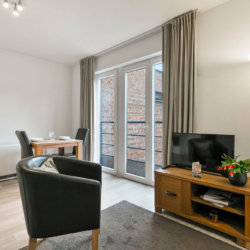 studio apartment with cable television in european quarter