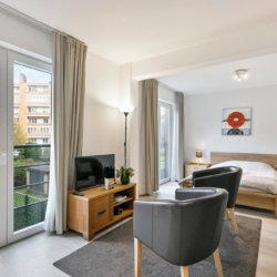 cable tv in studio apartment in european quarter