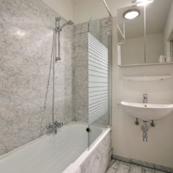 bath tub with shower and toilet with bi-weekly cleaning in serviced bbf apartment
