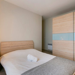 double bed in bbf serviced apartment
