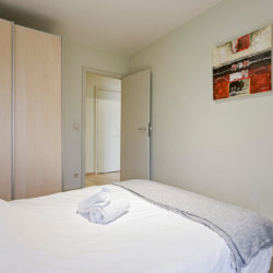 double bed in three bedroom serviced bbf apartment in european quarter