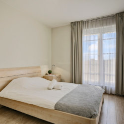 double bed in bbf serviced apartment near european commission