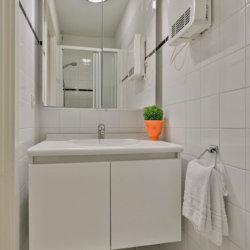 sink in bathroom cleaned bi-weekly in serviced bbf apartment