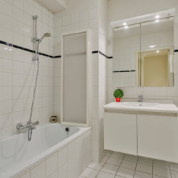 shower and bath in three bedroom serviced apartment