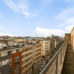 balcony view from three bedroom serviced apartment in european quarter