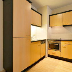 fully equipped kitchen with utensils and extra storage space in etterbeek near european commission
