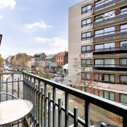 balcony view from furnished bbf apartment in etterbeek