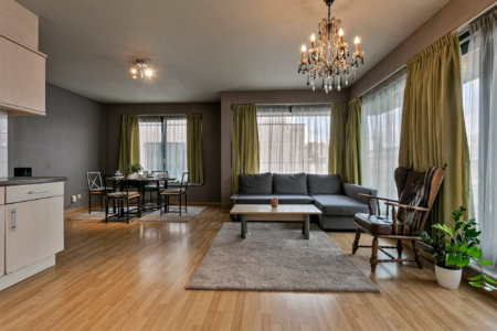 living room in bbf serviced apartment jacqmain residence