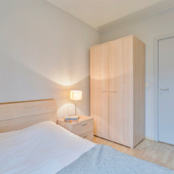 double bed with linens included, ensuite and wardrobe