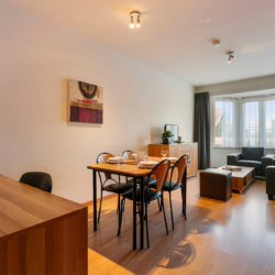 spacious furnished two bedroom apartment in bbf europark residence with living room, dining and office space