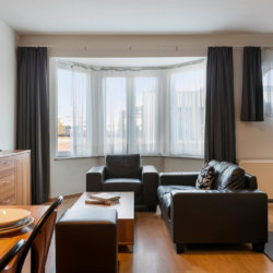 spacious two bedroom apartment with services next to european commission