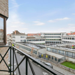 balcony view from studio apartment in bbf appartment eurosquare residence