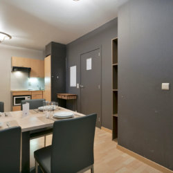 dining table and kitchen in bbf serviced apartment