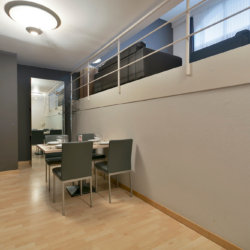 dining room table in spacious bbf serviced apartment