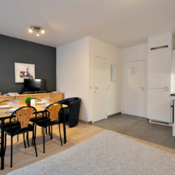 bbf serviced apartment with dining room and fully equipped kithcen