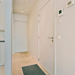 entrance to studio apartment in minos residence walking distance to european commission