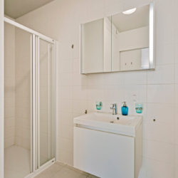 bathroom with shower and bi-weekly cleaning in serviced bbf apartment