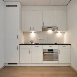 fully equipped kitchen in bbf serviced apartment brussels city centre