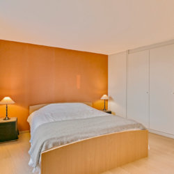 double bed in large studio apartment near place jourdan