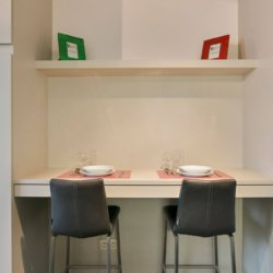 dining table in studio apartment brussels city centre
