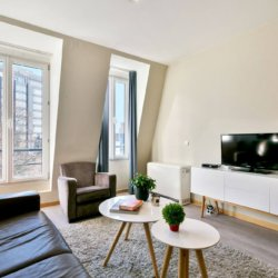 living room with cable television in bbf apartment in brussels