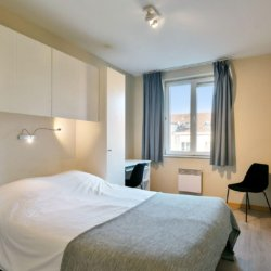 double bed with storage in bbf serviced apartment