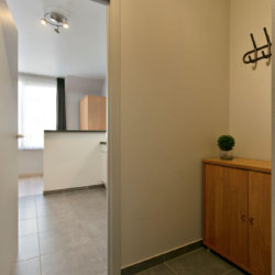 entrance hall to bbf studio apartment in dumonceau residence brussels