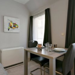 two person dining table in studio serviced apartment