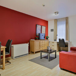 one bedroom serviced apartment living space