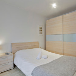 double bed with wardrobe and linens included bbf services